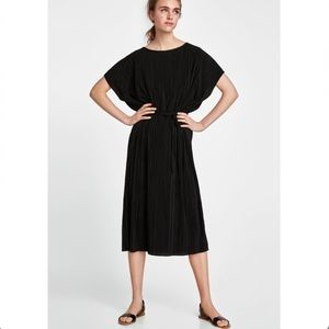 Zara Dresses - Zara Pleated Dress With Belt